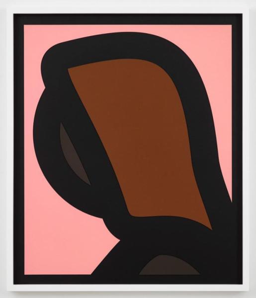 Julian Opie, Paper Head 1., 2019