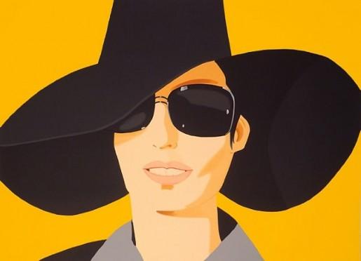 Alex Katz, Vivien in Black Hat, 2010