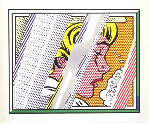 Roy Lichtenstein, Reflections on Girl, 1990