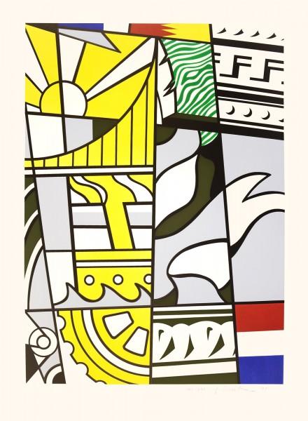 """Roy Lichtenstein, Bicentennial Print, from the Portfolio """"America: The Third Century"""", 1975"""