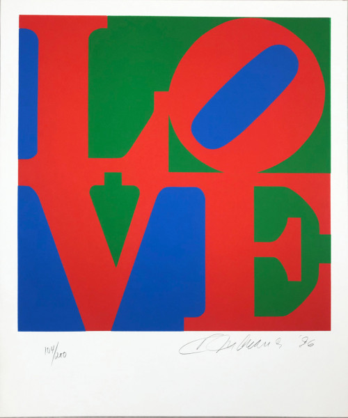 Robert Indiana, The Book of Love 7, 1996