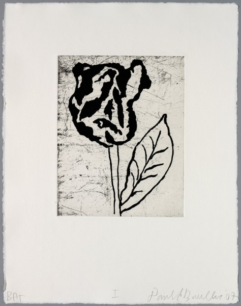 Donald Baechler, Five flowers I, 2007
