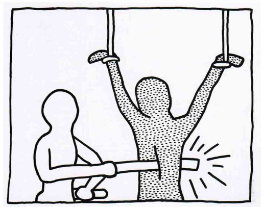 Keith Haring, The Blueprint Drawings #7, 1990