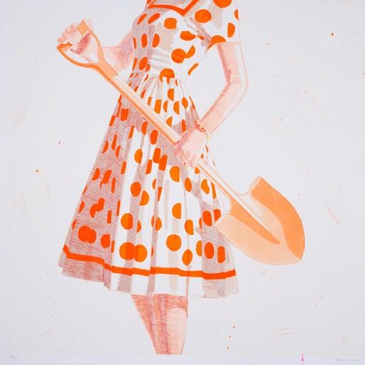 Kelly Reemtsen, Ground Breaking, Orange, 2015