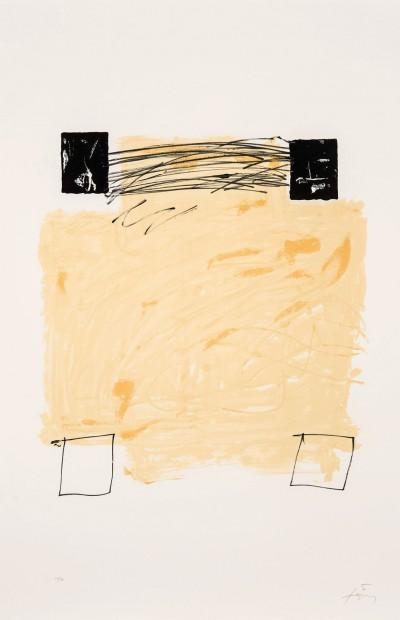 Quatre carrés by Antoni Tàpies