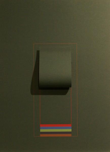 Robyn Denny, Mirrors (dark green), 1974