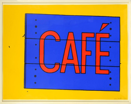 Patrick Caulfield, Cafe Sign, 1968