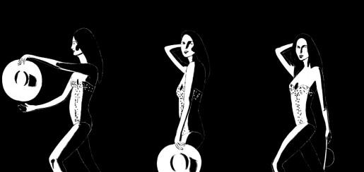 Alex Katz, Ariel (black), 2016