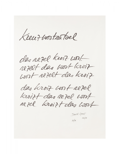 Daniel Spoerri, Kreuzworträtsel, 1956-1986