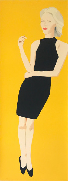 Alex Katz, Black Dress 8 (Ruth), 2015