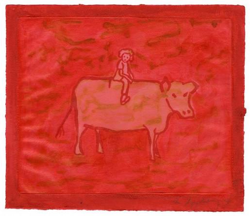 Ida Applebroog, Untitled (Girl with Cow), 2003