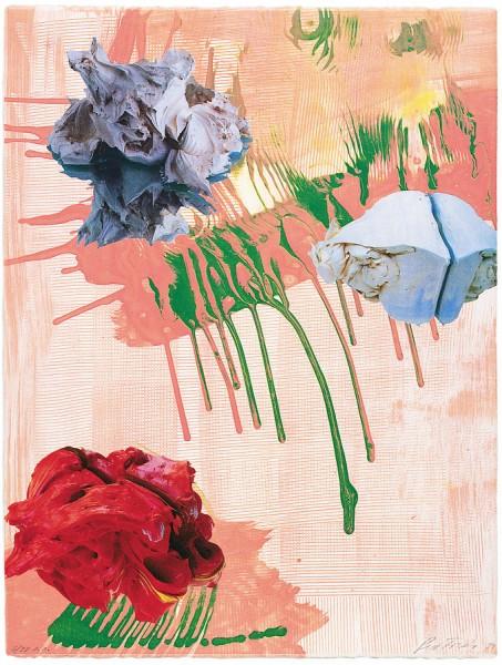 Pia Fries, Siebdruck H, 1999