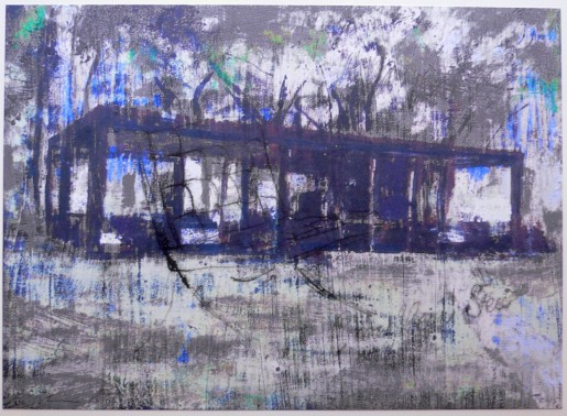 Enoc Perez, Glass House (Grey), 2015