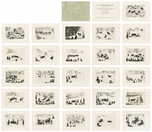Pablo Picasso, La Tauromaquia o Arte de torear (José Delgado alias Pepe Illo), 1957/59
