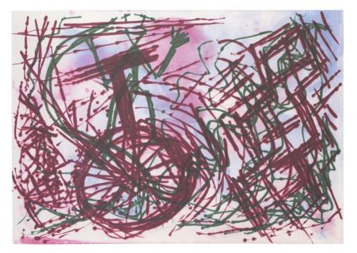 A.R. Penck, Schmerzblatt II, 1989