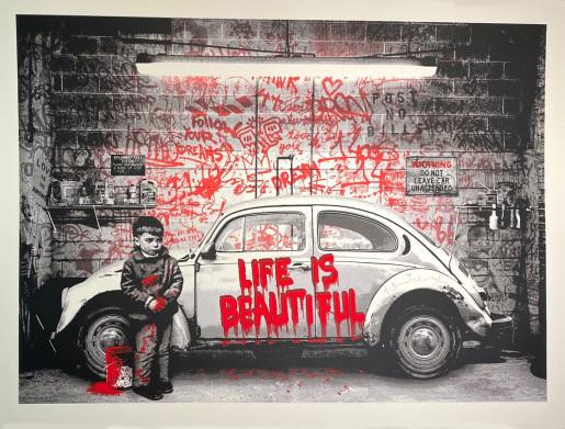 Mr. Brainwash, VW Bettle Red, 2020