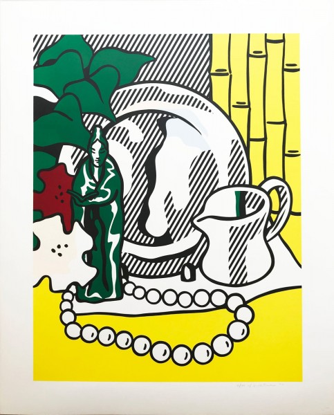Roy Lichtenstein, Still Life with Figurine, 1974