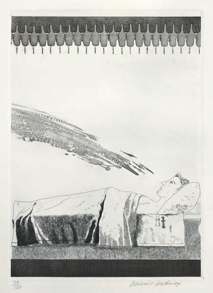 David Hockney, Cold Water About to Hit the Prince (The Boy Who Left Home to Learn Fear), 1969