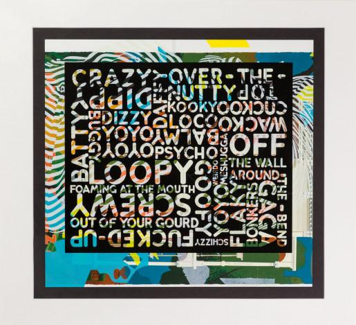 Mel Bochner, Crazy (with background noise), 2018