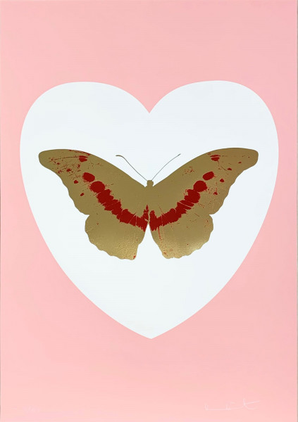 Damien Hirst, I Love You - White/Pink/Cool Gold/Poppy Red, 2015