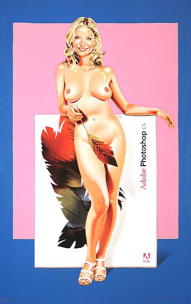 Mel Ramos, Photoshop cs., 2009