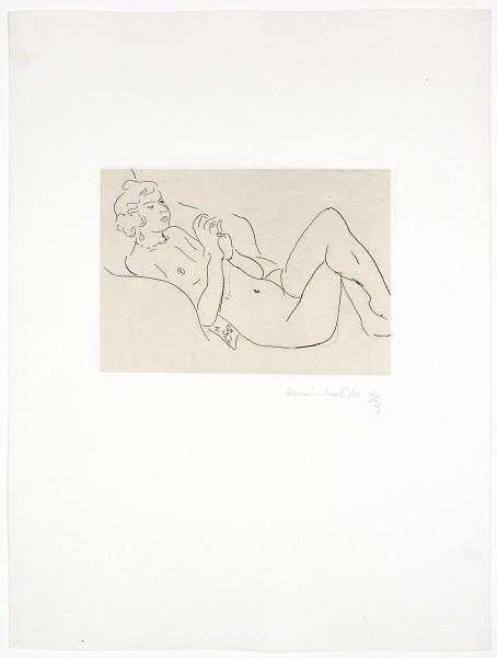 Henri Matisse, Nu Allongé, les Jambes Repliées, avec un Collier, 1929