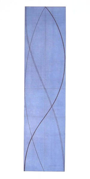 Robert Mangold, Half Column A (Light Blue), 2005