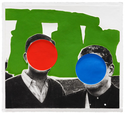 John Baldessari, Stonehenge (With Two Persons) Green, 2005