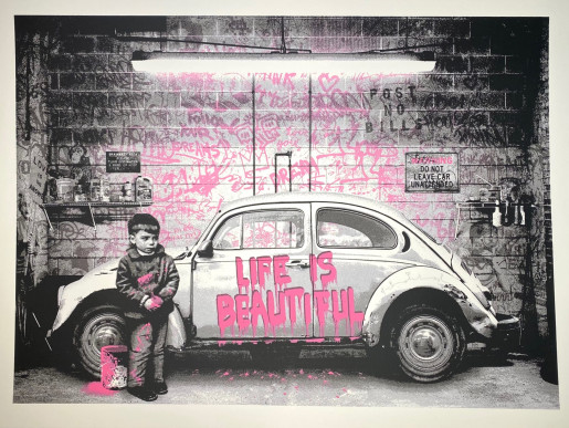 Mr. Brainwash, VW Bettle Pink, 2020