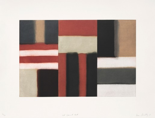Sean Scully, Cut Ground Red, 2011