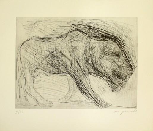A.R. Penck, Löwe 3, 1988