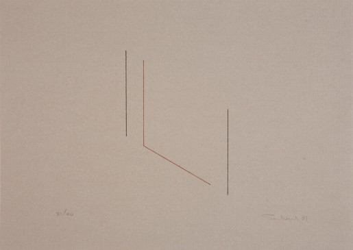 Fred Sandback, Untitled (Jahn #84), 1981