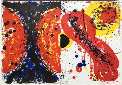 "Sam Francis, Uncle Sam loves Marylin, 1¢ life (from ""1¢ life""), 1964"