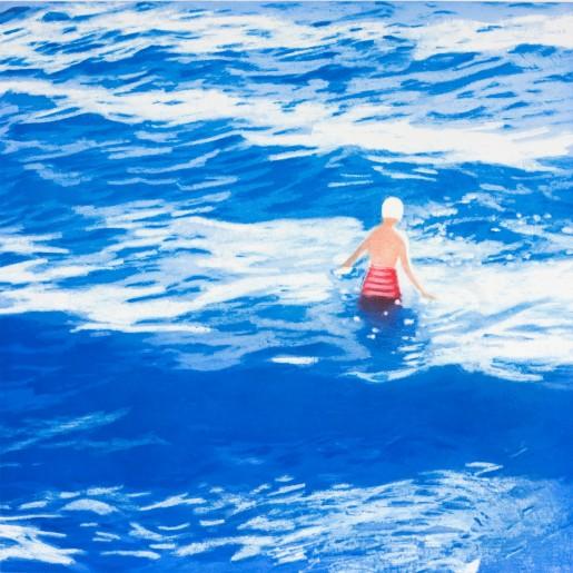 Isca Greenfield-Sanders, Wading II (Blue), 2012
