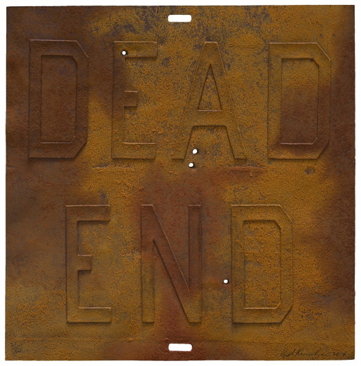 Ed Ruscha, Rusty Signs - Dead End 3, 2014