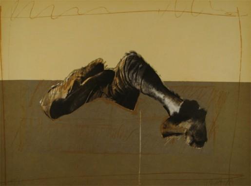 Rafael Canogar, Figura en paisaje, 1975