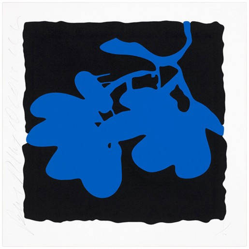 Donald Sultan, Lantern Flowers, May 10, 2012 (Blue), 2012