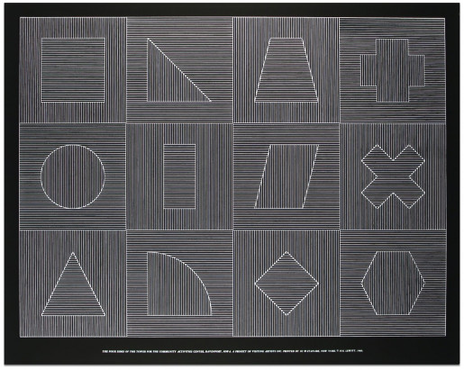 Sol LeWitt, The Four Sides of the Tower for the Community Activities Center, Davenport, Iowa, Plate #05, 1983