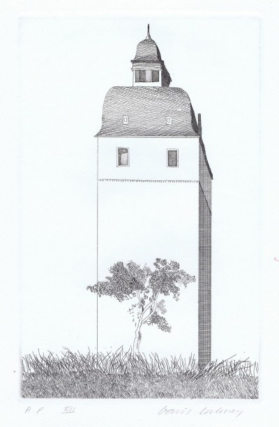 The Bell Tower by David Hockney