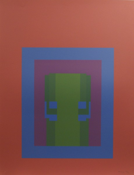 Robyn Denny, Paradise Suite (mauve with blue/purple/green inner), 1969
