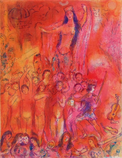 Marc Chagall, They were in Forty Pairs…, from: Four Tales from the Arabian Nights, 1948