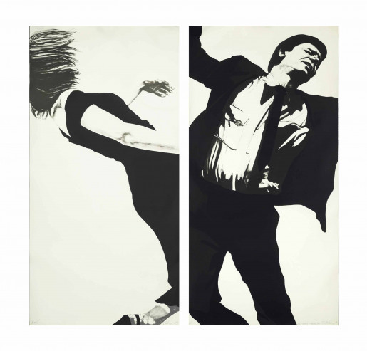 Robert Longo, Joanna and Larry, from the Men in the Cities Series, 1983