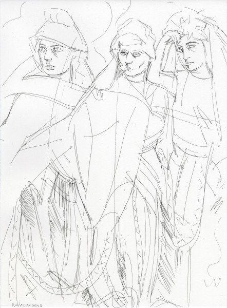 Elizabeth Peyton, Rhinemaidens (Norns), 1876, 2011