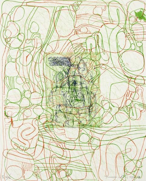 Hermann Nitsch, Die Architektur des orgien Mysterien II -  1, 1984