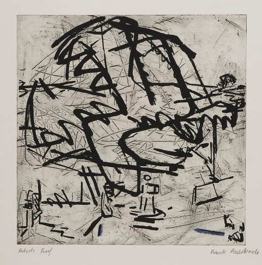 Frank Auerbach, Tree at Tretire 1, 1976