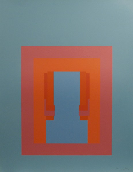 Robyn Denny, Paradise Suite (turquoise with mauve/red inner), 1969