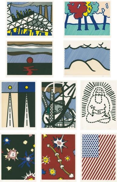 Roy Lichtenstein, La Nouvelle Chute de l'Amérique (The New Fall of America), 1991/1992