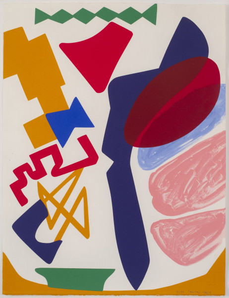 Shirley Jaffe, Sans titre 4, 1993