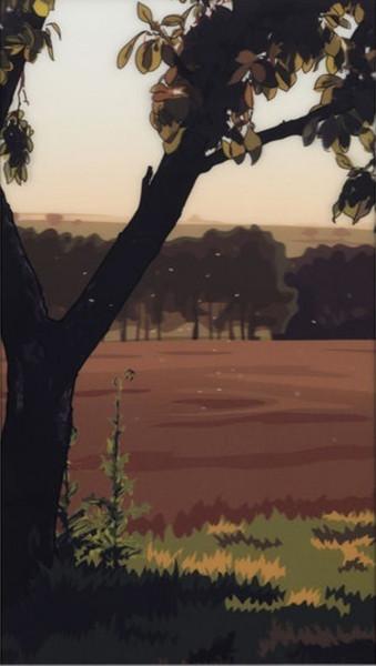 Julian Opie, French Landscapes: Evening Sun, 2013
