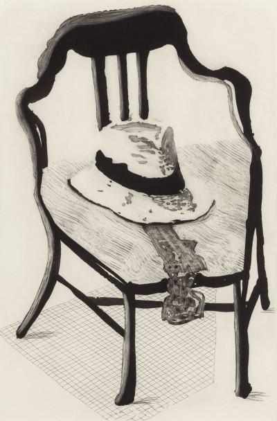 Hat On Chair, from The Geldzahler Portfolio by David Hockney